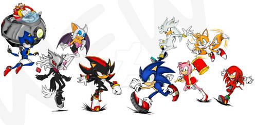 Sonic characters Fresk