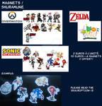 Sonic Fridge Magnets by ShuraMune-Sonic