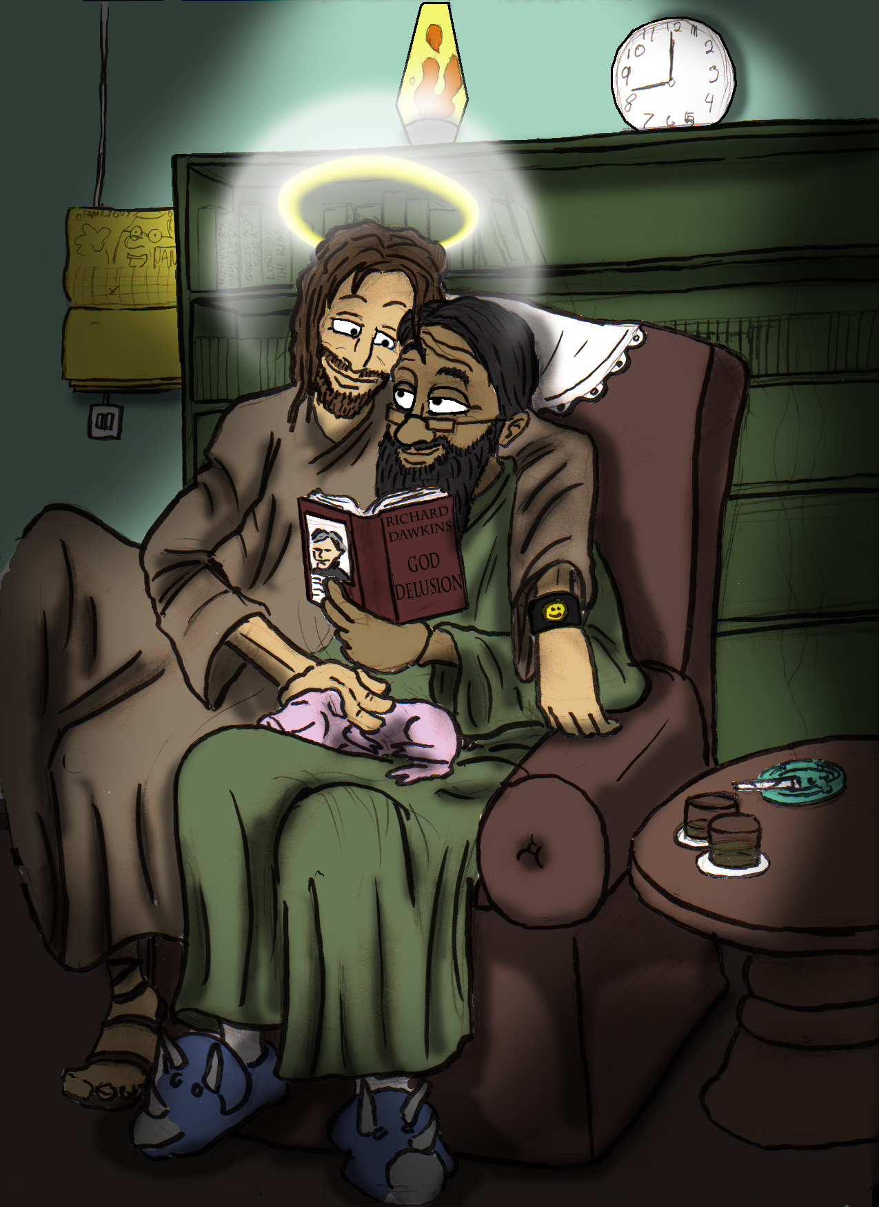mohamed and jesus by Tryggi