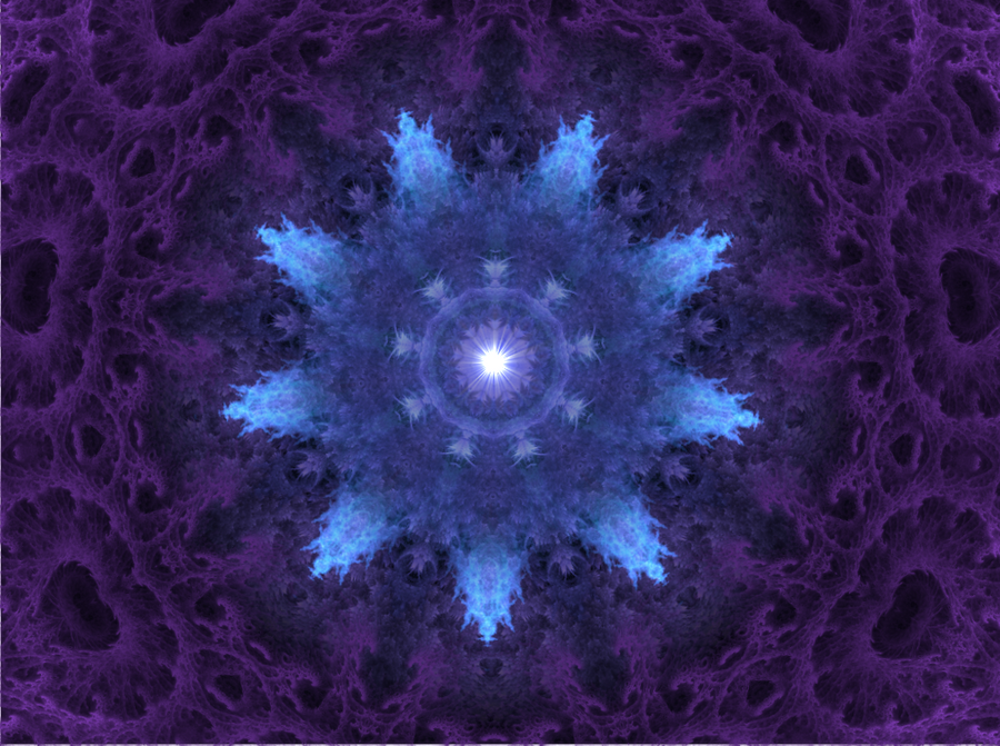 Depth (fractal mandala 02) by iampagan