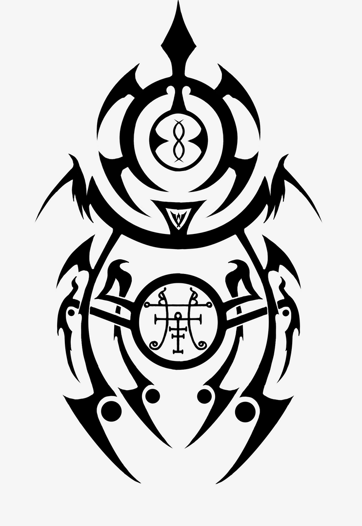 Occult goetic tribal tattoo by iampagan on deviantart for Tribal tattoo shops near me