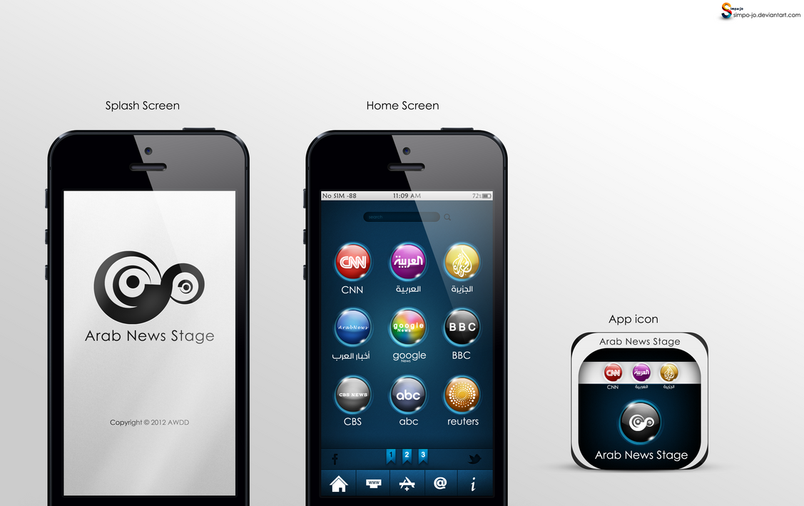 Mobile App Character Design : Mobile app design by almoutasemz on deviantart