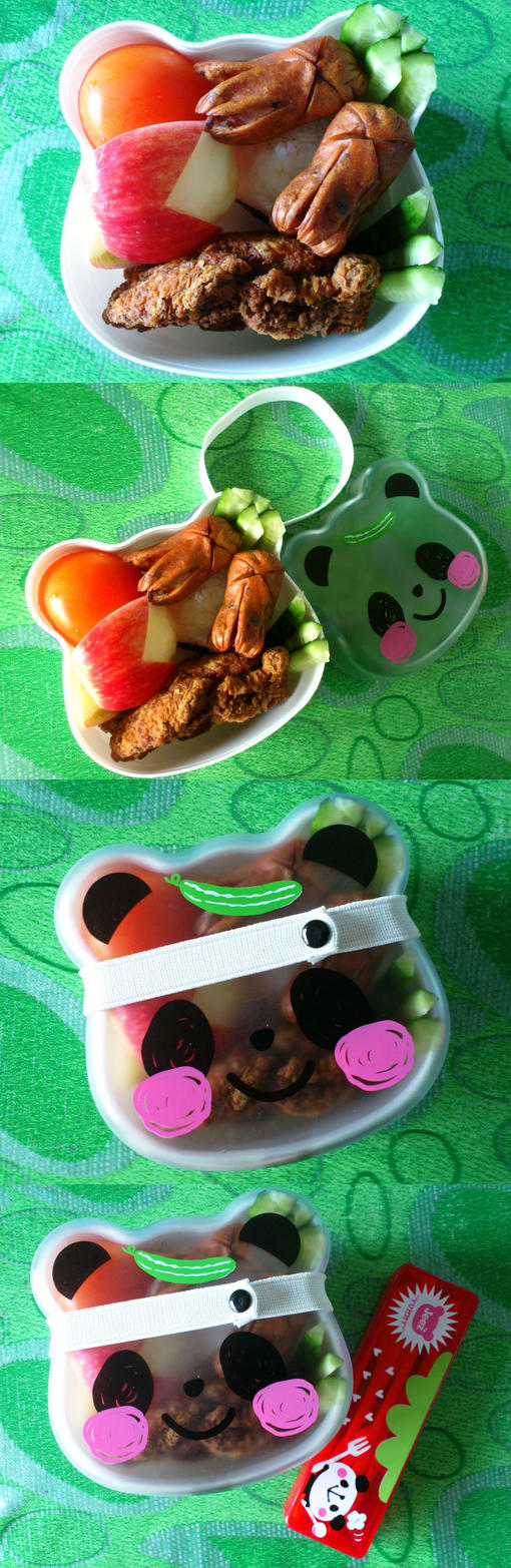 panda bento step by step by plainordinary1