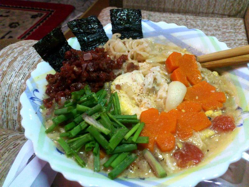 beef ramen dinner by plainordinary1