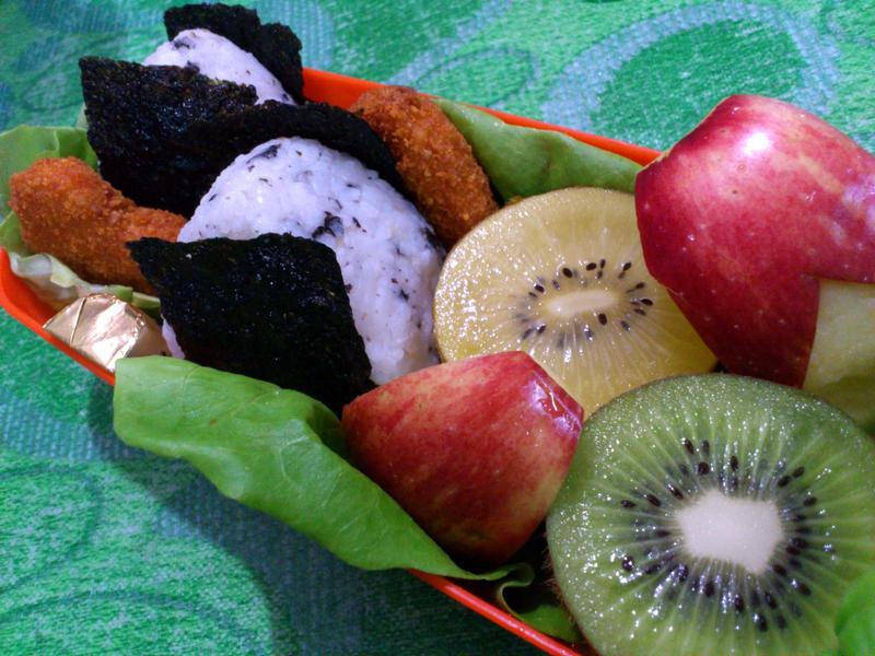 onigiri nugget bento by plainordinary1