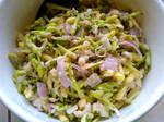 Papaya flower salad