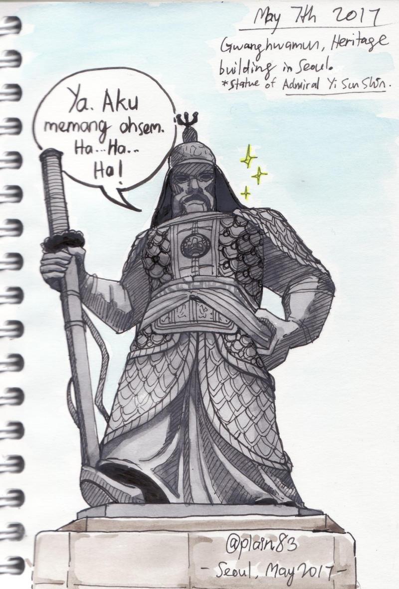 Statue of admiral Yi SunShin