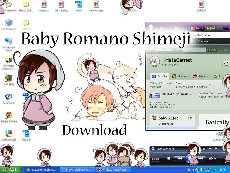 Baby Romano/ Chibiromano Shimeji