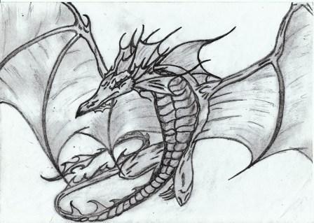 Flying dragon by RinaRnD