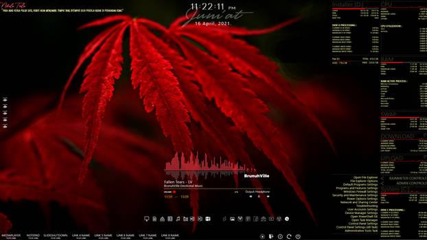Rainmeter - Red Autumn 1.2