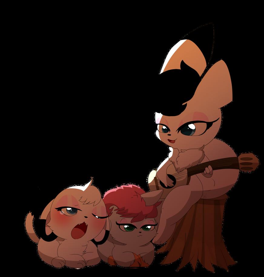 Captain Bokko,Unico and Kimba by Cookie-Kit