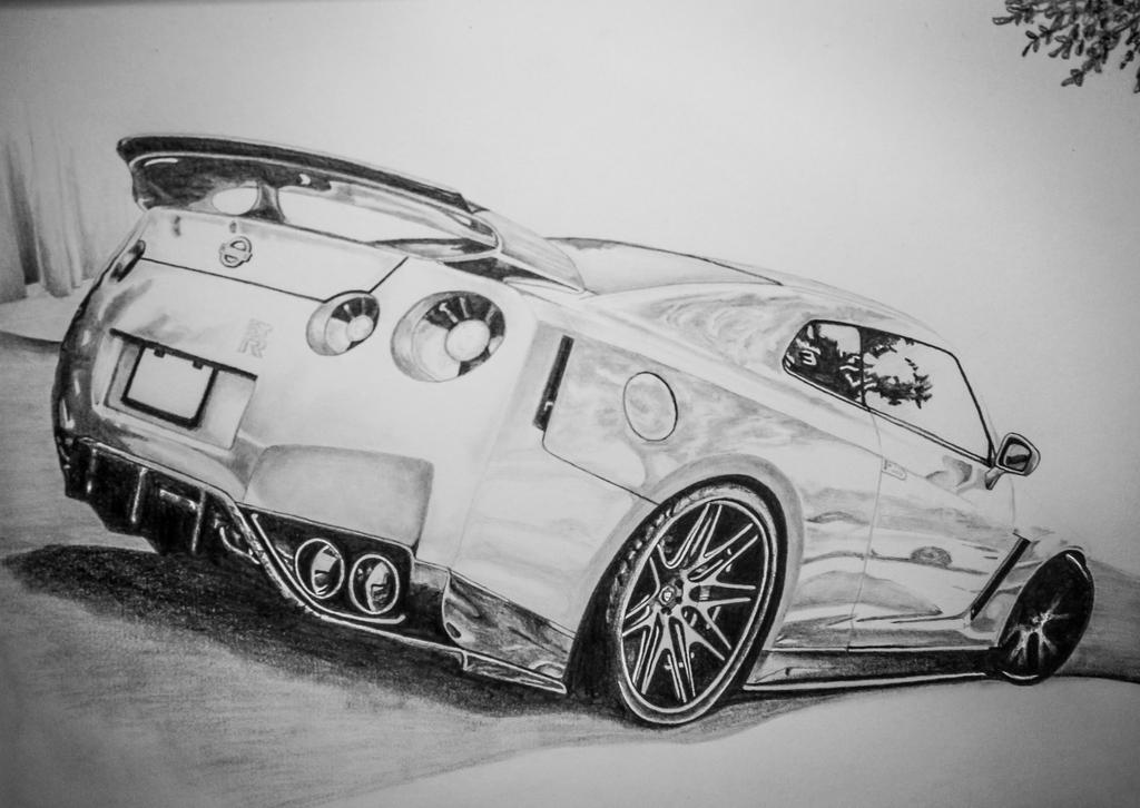 Nissan GT-R Drawing By DannyHouse On DeviantArt