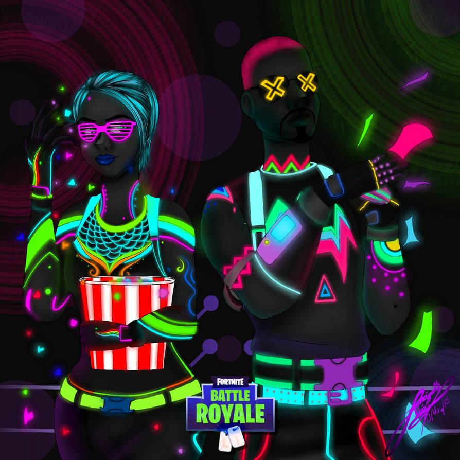 nitelite and liteshow fan art fortnite by yarizethnajar5 - nitelite fortnite