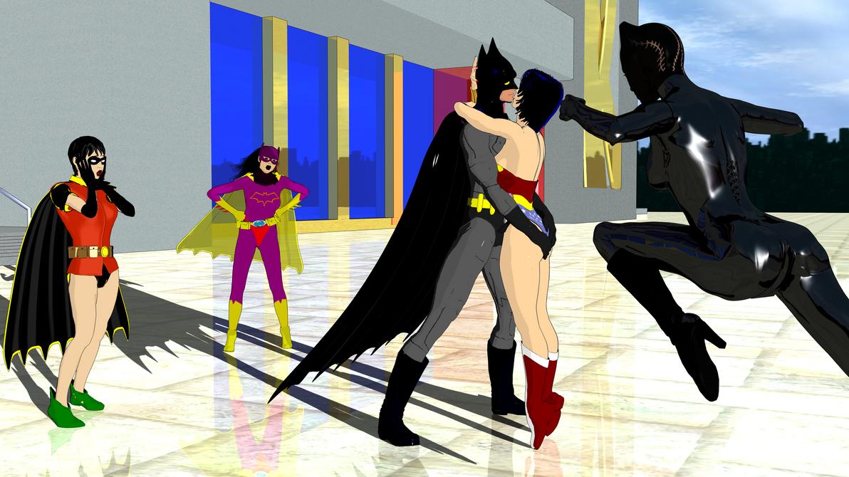 YAST Kiss Batman Wonder Woman by Narucoman