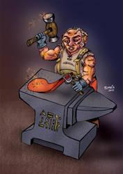 Gnome Blacksmith by nikotem
