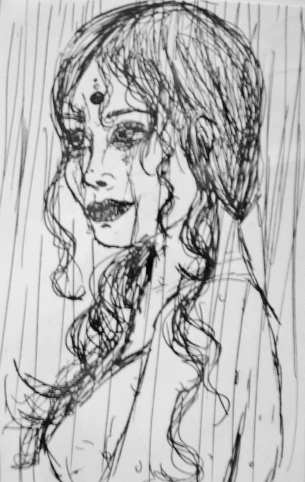 In the rain by MyCrystalStar