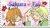 Sakura+Fay fan stamp by Mokyn