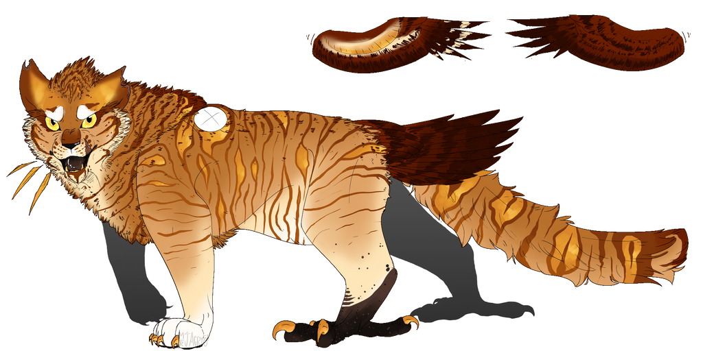 Golden Tiger-Eagle | Custom by Agryo on DeviantArt