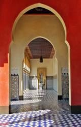Oriental hallway by baronjungern