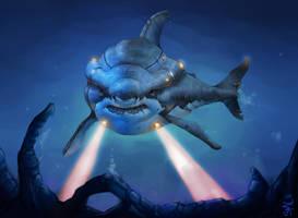 Shark Trek by StewartMortimer