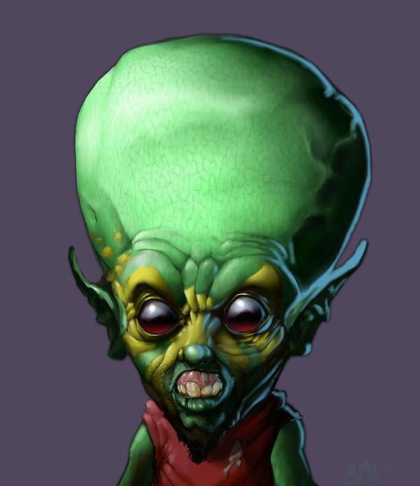 alien head drawing - photo #41