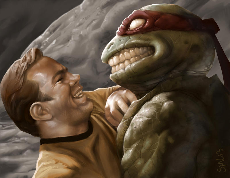 Kirk V Turtle by StewartMortimer