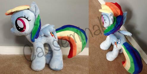 Custom Plushie - Filly Rainbow Dash by CasseminaPie