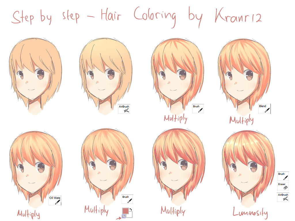 Step by Step - Hair Coloring (SAI) by YukkaChan121 on DeviantArt