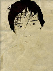 lineart on an old canvass by bhongzkie
