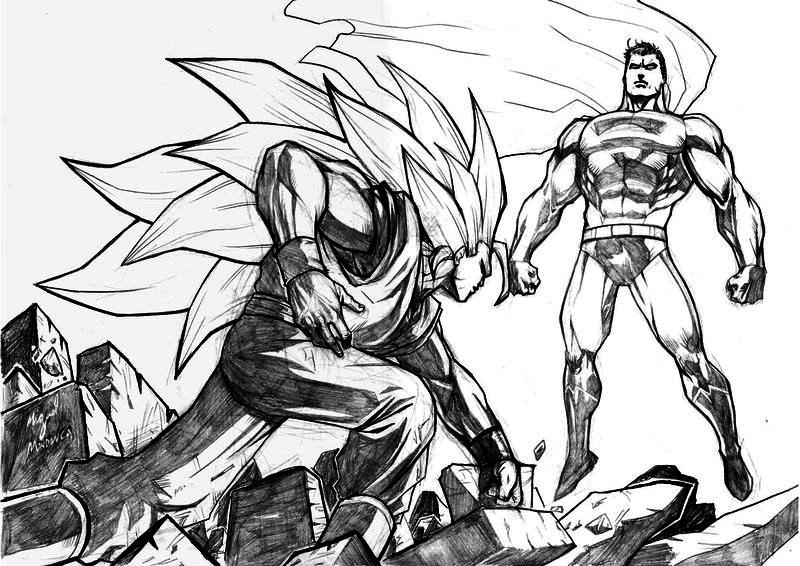 goku ssj3 vs superman - photo #39