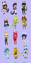 Gift: CHIBIS! UPDATED  5/27/12 by Nut-Bar