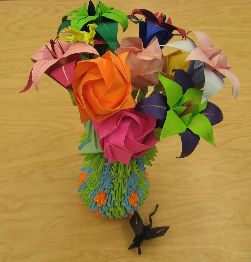 Paper Origami Flower Vase Vatozozdevelopment