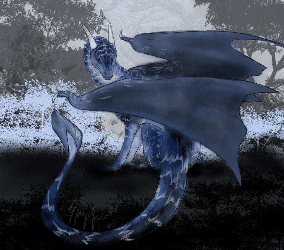 Akara Dragon Sketch by Jerhaia-Tsukikitsune