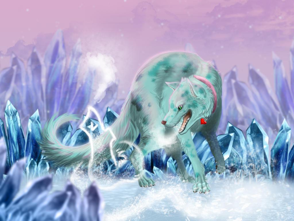 Howling Ice [Commission] by Jerhaia-Tsukikitsune
