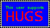 I Support Hugs Stamp by SummerSketch-MLP