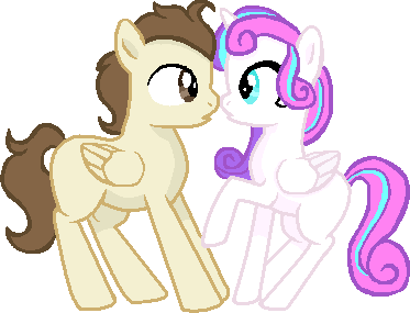 A cute young couple by SummerSketch-MLP