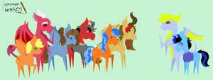 Pointy Art - Dragon-Pony Couple Club
