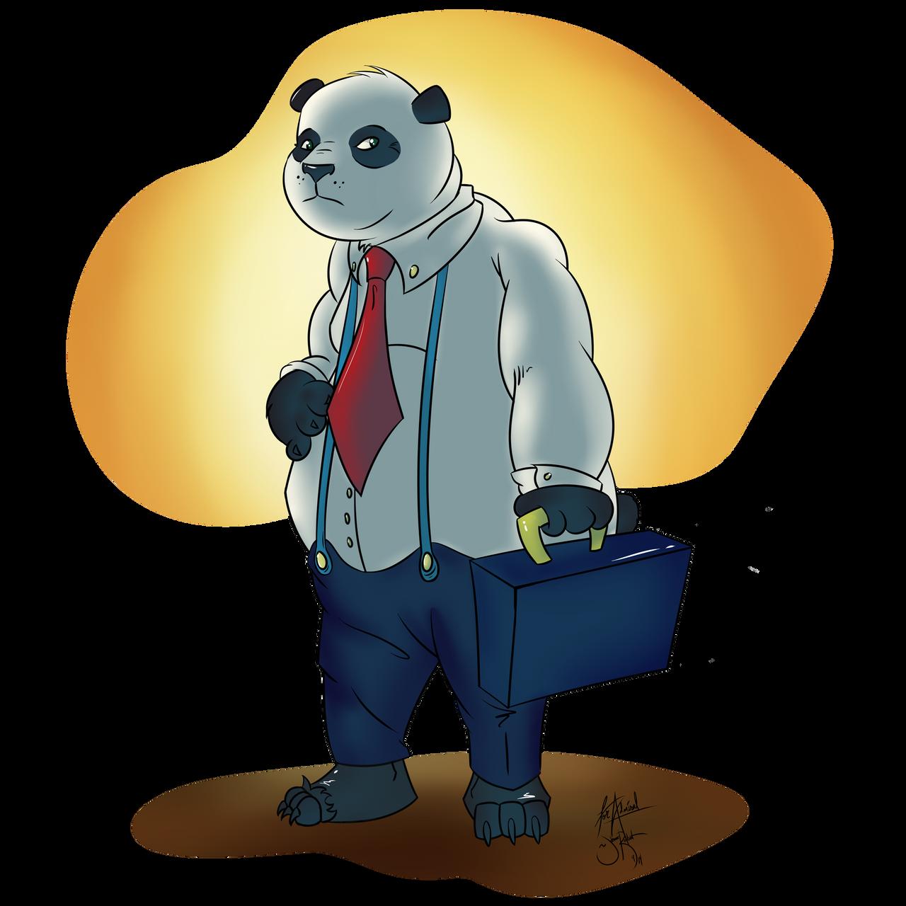 Panda in a Suit by Johansrobot