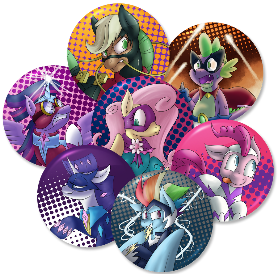 Buttons! PowerPonyset! by Johansrobot