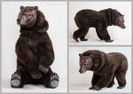 Grizzly Bear Poseable Art Doll