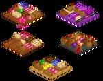 Pixel candy platters