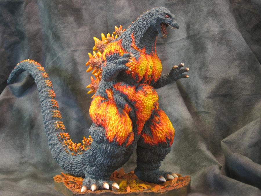 Burning Godzilla by Legrandzilla