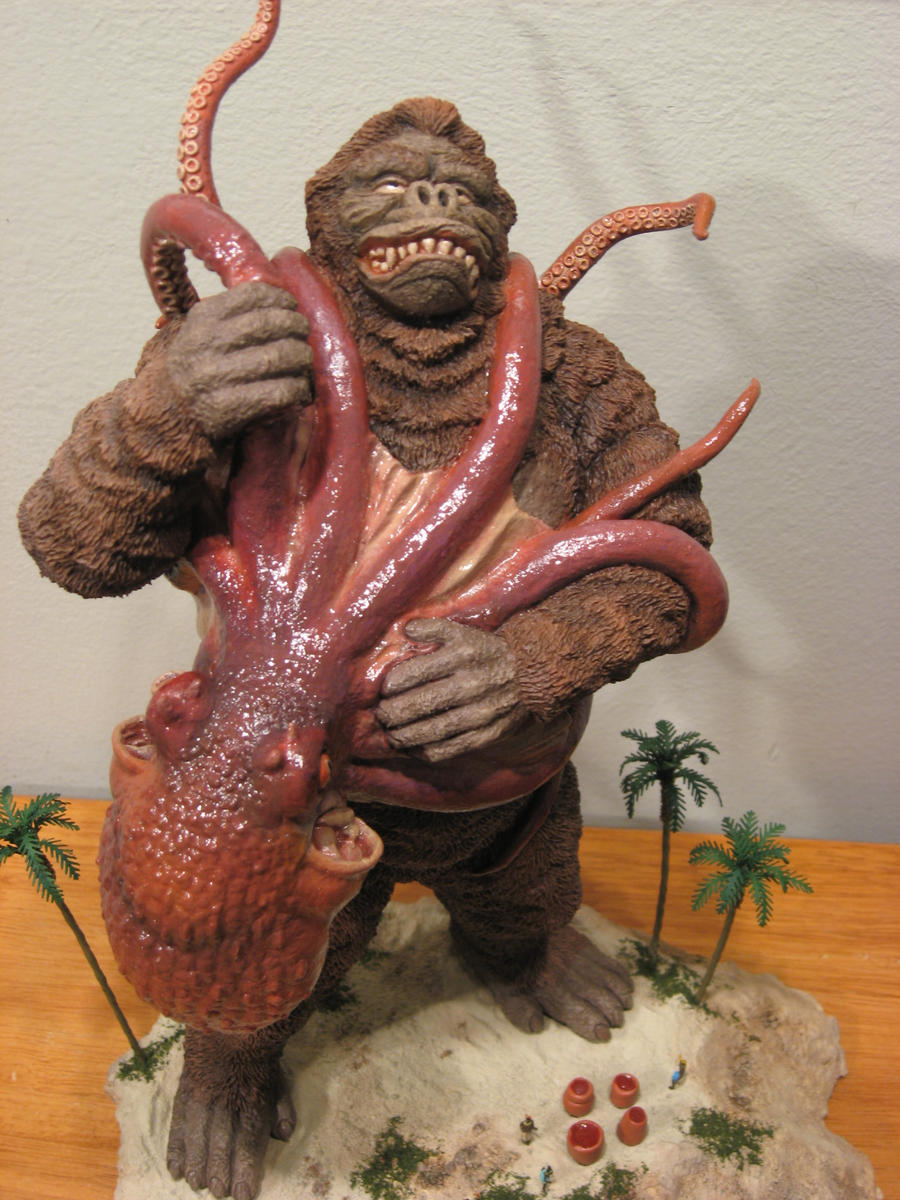 Murakami Kong VS Devilfish by Legrandzilla