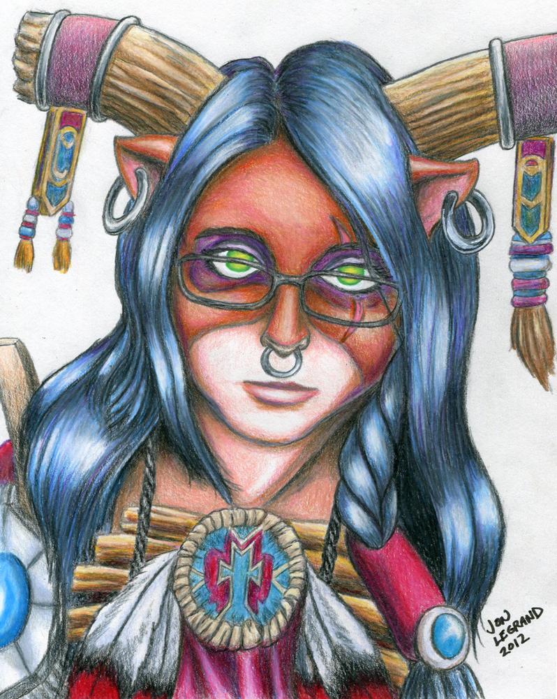 Anissa-Scar-Tauren Shaman for Enigma-Gish by Legrandzilla