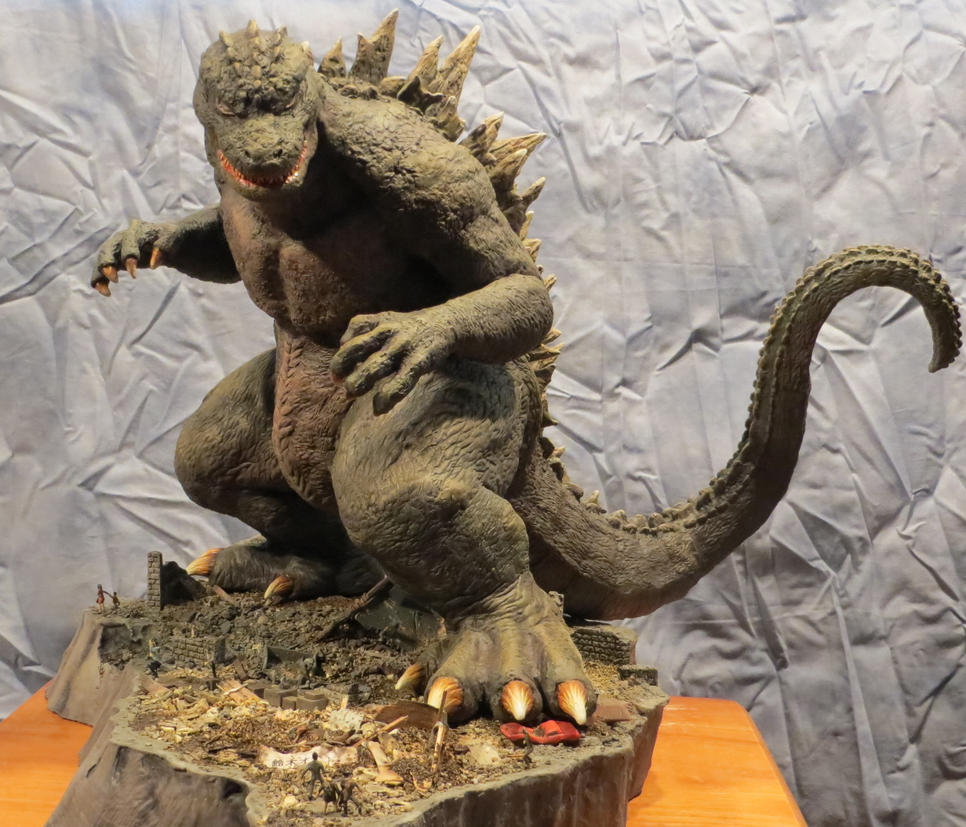 Always Godzilla Diorama He is Coming! by Legrandzilla