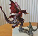 T's Facto Destroyah vs Godzilla Jr by Legrandzilla
