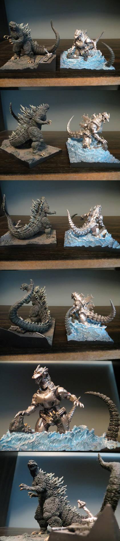 Polystone Kiryu vs Godzilla Toy Stock