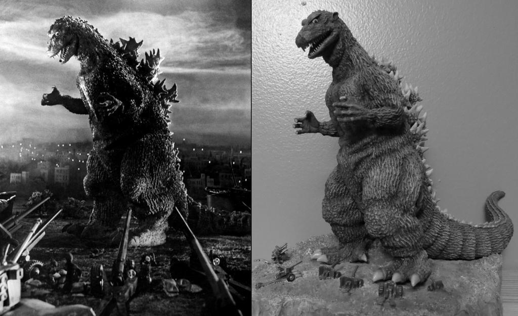 Godzilla 54 Promo Poster Diorama by Legrandzilla