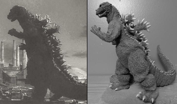 Godzilla 55 Photo Diorama by Legrandzilla