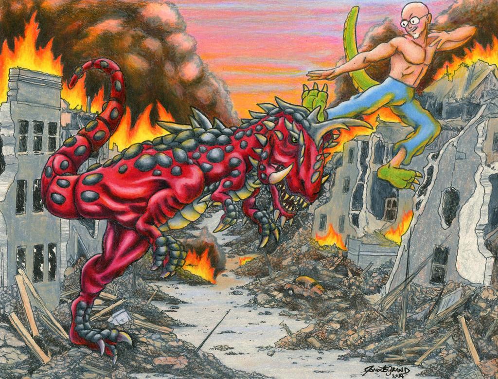 Kaiju Rumble: Flarex vs LeGrandzilla by Legrandzilla